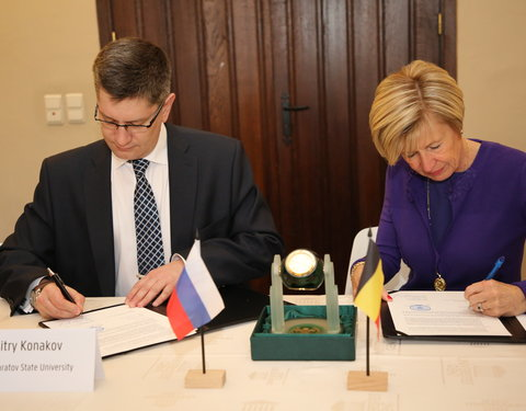 Hernieuwing cooperation agreement met Saratov State University (Rusland)